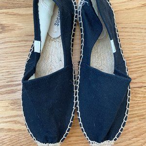 NWOT black and tan flat shoes
